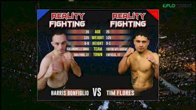Harris Bonfiglio vs Tim Flores Reality Fighting Replay