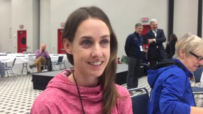 Molly Huddle ahead of American record attempt