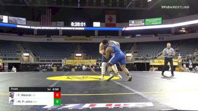285 lbs Final - Frederick Weaver, Liberty University vs Mervyn Penniston-John, Grays Harbor College