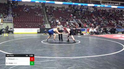 285 lbs 5th Place - Thomas Pollard, Meadville vs Adam Kase, Conrad Weiser