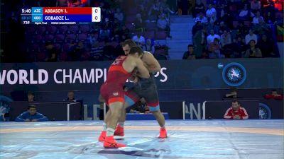 87 kg 1/8 Final - Islam Abbasov, Azerbaijan vs Lasha Gobadze, Georgia