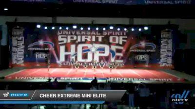 Cheer Extreme Mini Elite [2021 Mini 1 Day 1] 2021 Universal Spirit: Spirit of Hope National Championship
