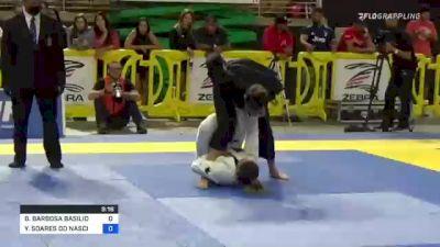 BIANCA BARBOSA BASILIO vs YARA SOARES DO NASCIMENTO 2021 Pan Jiu-Jitsu IBJJF Championship