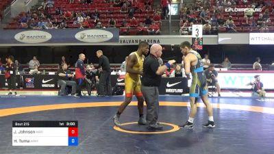 67 lbs Rr Rnd 2 - Jamel Johnson, Marines vs Hayden Tuma, Army (WCAP)