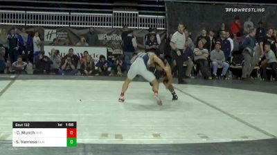 132 lbs Final - Drew Munch, Wyoming Seminary vs Shane Van Ness, Blair Academy