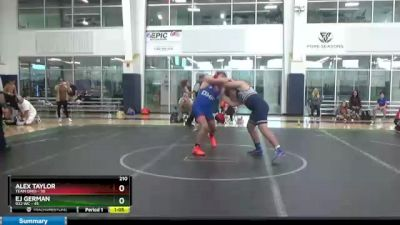 210 lbs Round 9 (10 Team) - Alex Taylor, Team Ohio vs EJ GERMAN, 922 WC