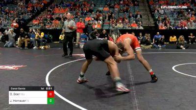 184 lbs Consolation - Dakota Geer, Oklahoma State vs Jackson Hemauer, Fresno State