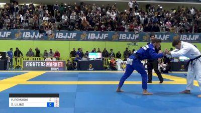PHILIPPE POMASKI vs SANTERI LILIUS 2019 European Jiu-Jitsu IBJJF Championship