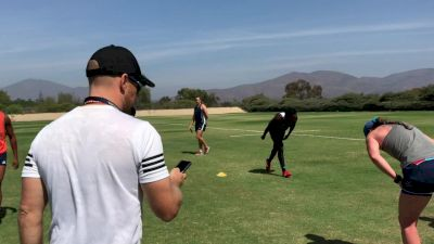 Chris Brown Puts Eagles Through Their Paces
