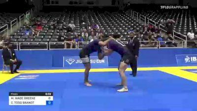 MATTHEW WADE GREENE vs COLE TODD BRANDT 2021 World IBJJF Jiu-Jitsu No-Gi Championship