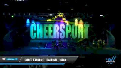 Cheer Extreme - Raleigh - Juicy [2021 L4 Junior - Medium Day 2] 2021 CHEERSPORT National Cheerleading Championship