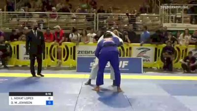 LUCAS NORAT LOPES vs DEVHONTE M. JOHNSON 2021 Pan Jiu-Jitsu IBJJF Championship