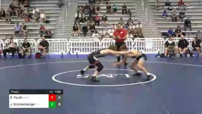 120 lbs Final - Stevo Poulin, Team Kong United vs Jett Strickenberger, Team Shutt North