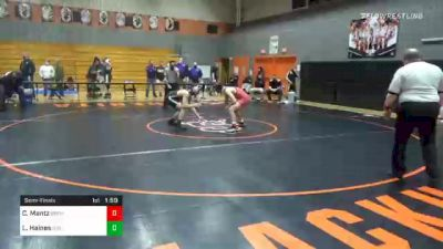 145 lbs Semifinal - Caleb Mantz, Bermudian Springs vs Levi Haines, Biglerville