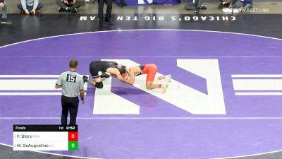 125 lbs Final - Pat Glory, Princeton vs Michael DeAugustino, Northwestern