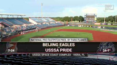 Full Replay - 2019 USSSA Pride vs Beijing Eagles | NPF - USSSA Pride vs Beijing Eagles | NPF - Jul 23, 2019 at 5:58 PM CDT