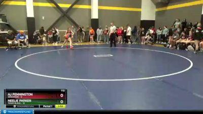 112 lbs Round 3 (3 Team) - Aj Pennington, Wisconsin vs Neelie Parker, Texas Black