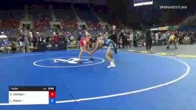 145 lbs Round Of 64 - Caleb Rathjen, Iowa vs Luke Robie, Virginia