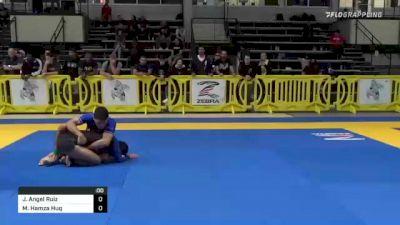 Jose Angel Ruiz vs Muhamad Hamza Huq 2021 Pan IBJJF Jiu-Jitsu No-Gi Championship
