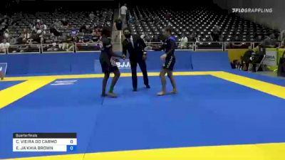CAROLINA VIEIRA DO CARMO MASSOT vs EMARI JA'KHIA BROWN 2021 World IBJJF Jiu-Jitsu No-Gi Championship