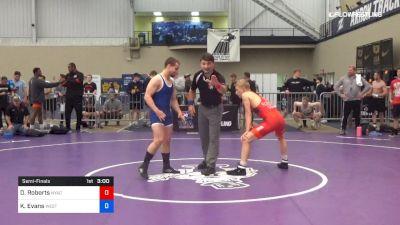 63 kg Semifinal - Dalton Roberts, NYAC/NMU vs Kyle Evans, Western Wyoming
