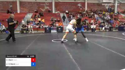 125 kg Consolation - Zach Elam, Tiger Style Wrestling Club vs Zachary Knighton-Ward, Blue & Gold Wrestling Club