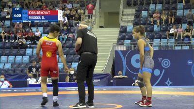57 kg 1/8 Final - Tancholpon Kybalbekova, Kyrgyzstan vs Denise Piroddu, Italy