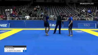 BRYSON R TAITANO vs LUIS ALBERTO SALOMON 2021 World IBJJF Jiu-Jitsu No-Gi Championship