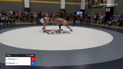 74 kg Prelims - Julian Ramirez, Spartan Combat RTC vs Aj Kovacs, Wolfpack Wrestling Club