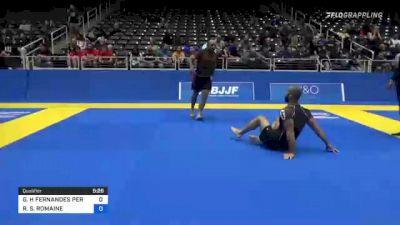 GEORGE H FERNANDES PEREIRA vs RICH S. ROMAINE 2021 World IBJJF Jiu-Jitsu No-Gi Championship