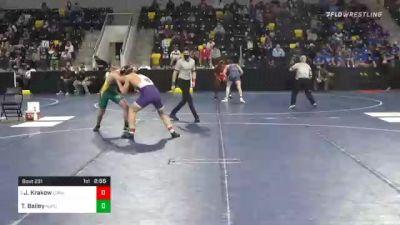 174 lbs Prelims - Jacob Krakow, Loras College vs Tyler Bailey, New Jersey City University
