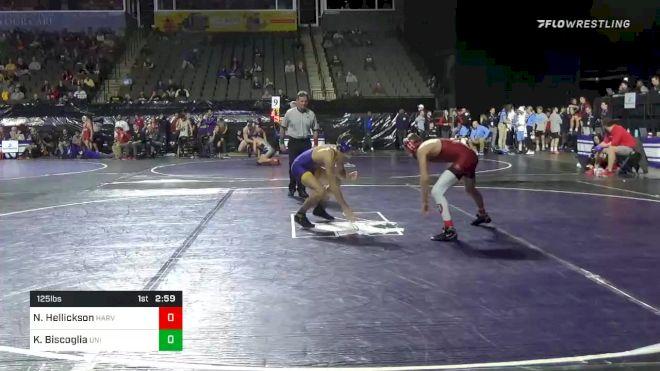 125 lbs Prelims - Nolan Hellickson, Harvard vs Kyle Biscoglia, Northern Iowa