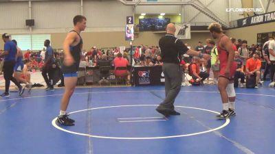 97 kg Round Of 16 - Kobe Woods, Wartburg vs Jonathan Aiello, Cavalier Wrestling Club
