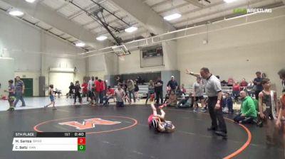 55 lbs 5th place - Michael Santos, Bandits vs Chase Beltz, Virginia Wrestling Academy