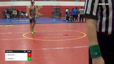 189 lbs 5th Place - John Symons, WU vs Kyle Kasper, CG