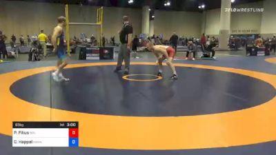 65 kg Prelims - Parker Filius, Boilermaker RTC vs Carter Happel, Hawkeye Wrestling Club