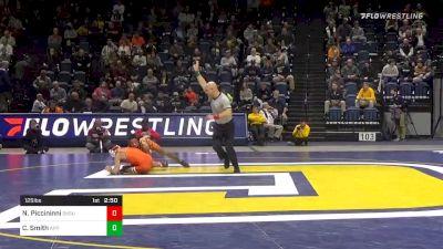 125 lbs Semifinal - Nick Piccininni, Oklahoma State vs Caleb Smith, Appalachian State