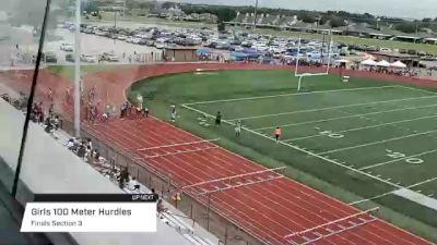 Youth Girls' 100m Hurdles, Finals 3 - Age 17-18