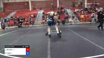 92 kg Consolation - Jacob Brandt, Warrior Elite Wrestling vs Gunner Cash, Oklahoma