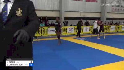 LACHASITY CLOUD vs JOANNA CHRISITNE SCOTT 2021 Pan IBJJF Jiu-Jitsu No-Gi Championship