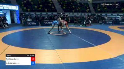 63 kg Semifinal - Randon Miranda, Rise RTC vs Lillashawn Coleman, Army (WCAP)