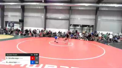 51 kg Quarterfinal - Dom De'altonaga, Poway Elite vs Nathanael Jesuroga, Sebolt Wrestling Academy
