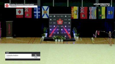 Izabella Helbin - Ball, Ontario - 2019 Canadian Gymnastics Championships - Rhythmic