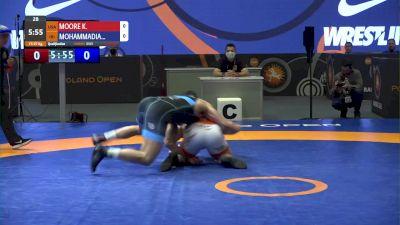 97 kg Kollin Moore, USA vs Mohammad Mohammadian, IRI
