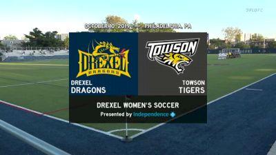Full Replay: 2019 Towson vs Drexel   CAA Women's Soccer