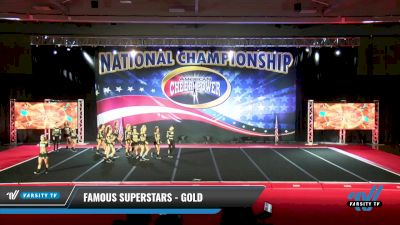 Famous Superstars - Gold [2021 L6 Senior Coed - XSmall Day 2] 2021 ACP: Midwest World Bid National Championship