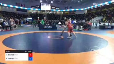 87 kg Quarterfinal - Tommy Brackett, Tennessee vs Nick Reenan, TMWC/ Wolfpack Wrestling Club