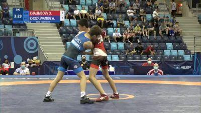 45 kg 1/2 Final - Ozodbek Khalimboev, Uzbekistan vs Anri Khozrevanidze, Georgia