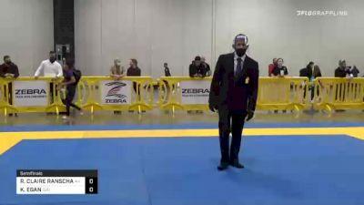 RACHEL CLAIRE RANSCHAU vs KATHLEEN EGAN 2020 IBJJF Pan No-Gi Championship