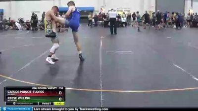 135 lbs Cons. Round 3 - Carlos Munoz-Flores, Illinois vs Reese Willing, Michigan